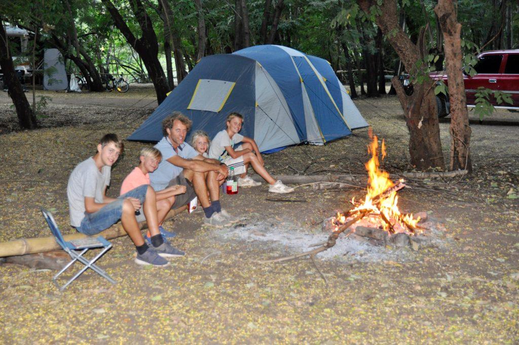 Eva Meenhorst kamperen met familie